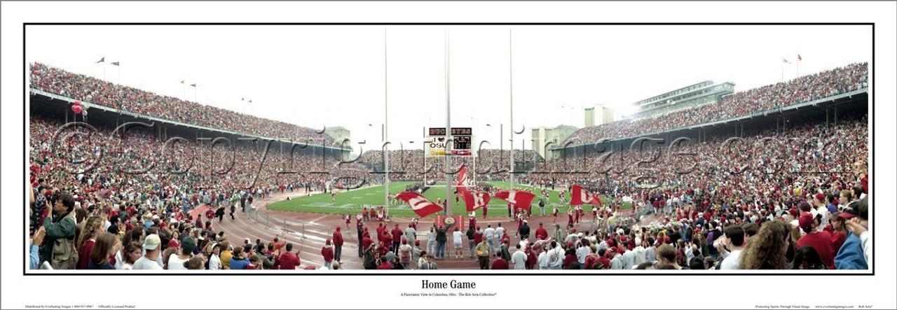 """Ohio State Buckeyes """"Home Game"""" Ohio Stadium Panoramic Poster"""