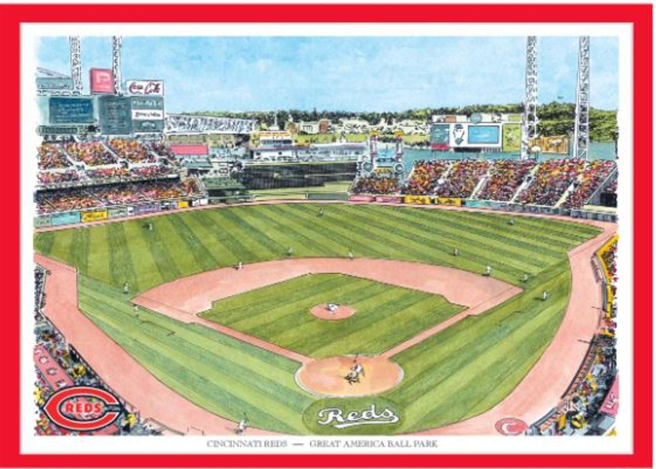 Great American Ball Park - Cincinnati Reds  Art Print