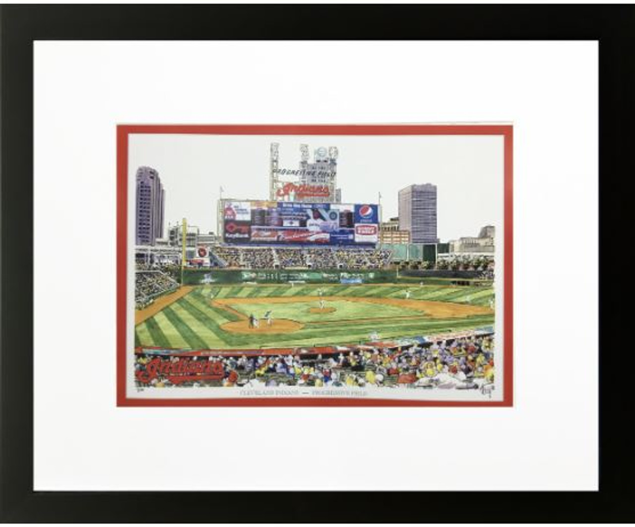 Progressive Field - Cleveland Indians Art Print