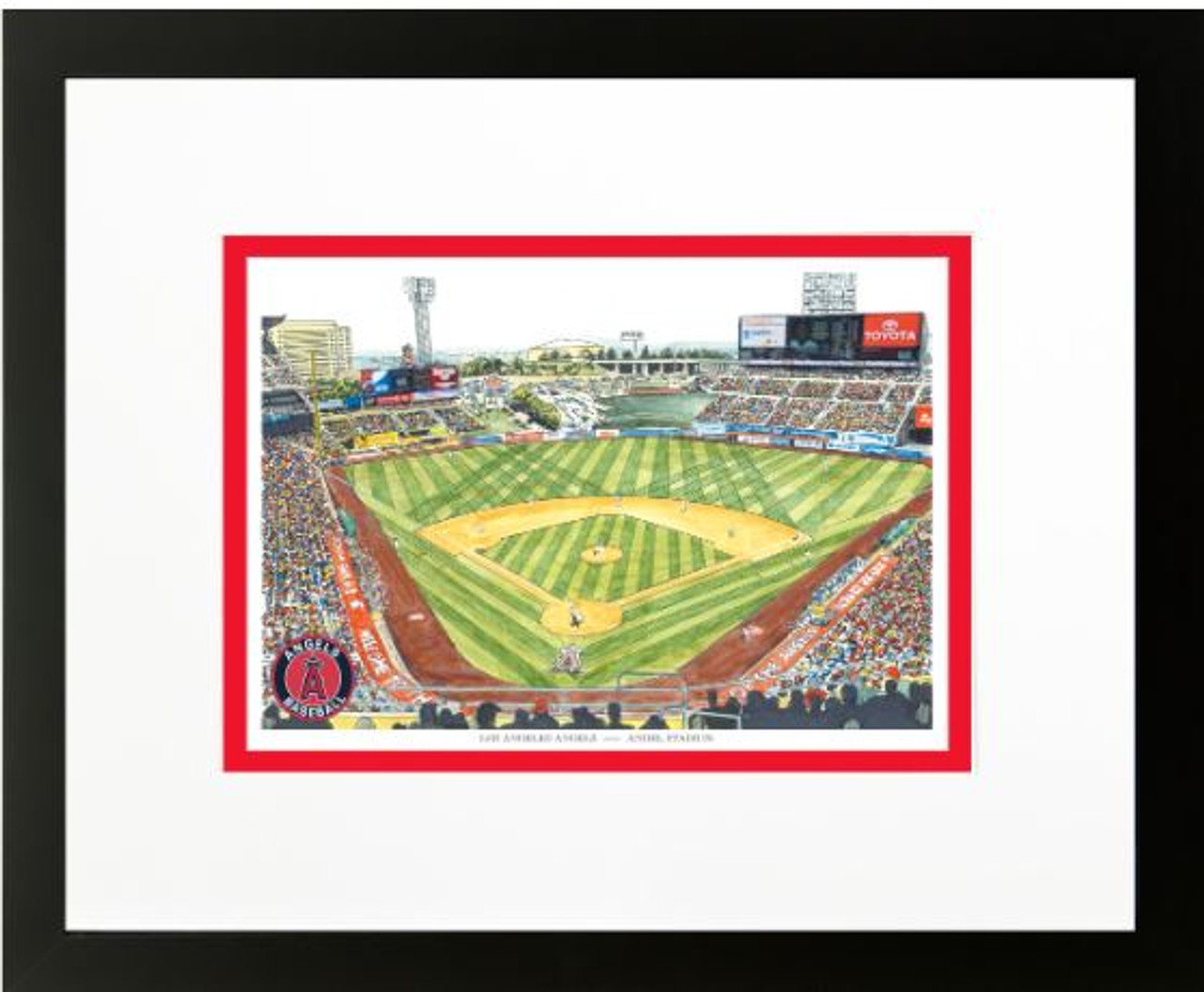 Angel Stadium - Los Angeles Angels Art Print