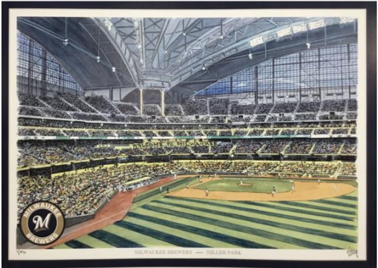 Miller Park - Milwaukee Brewers Art Print