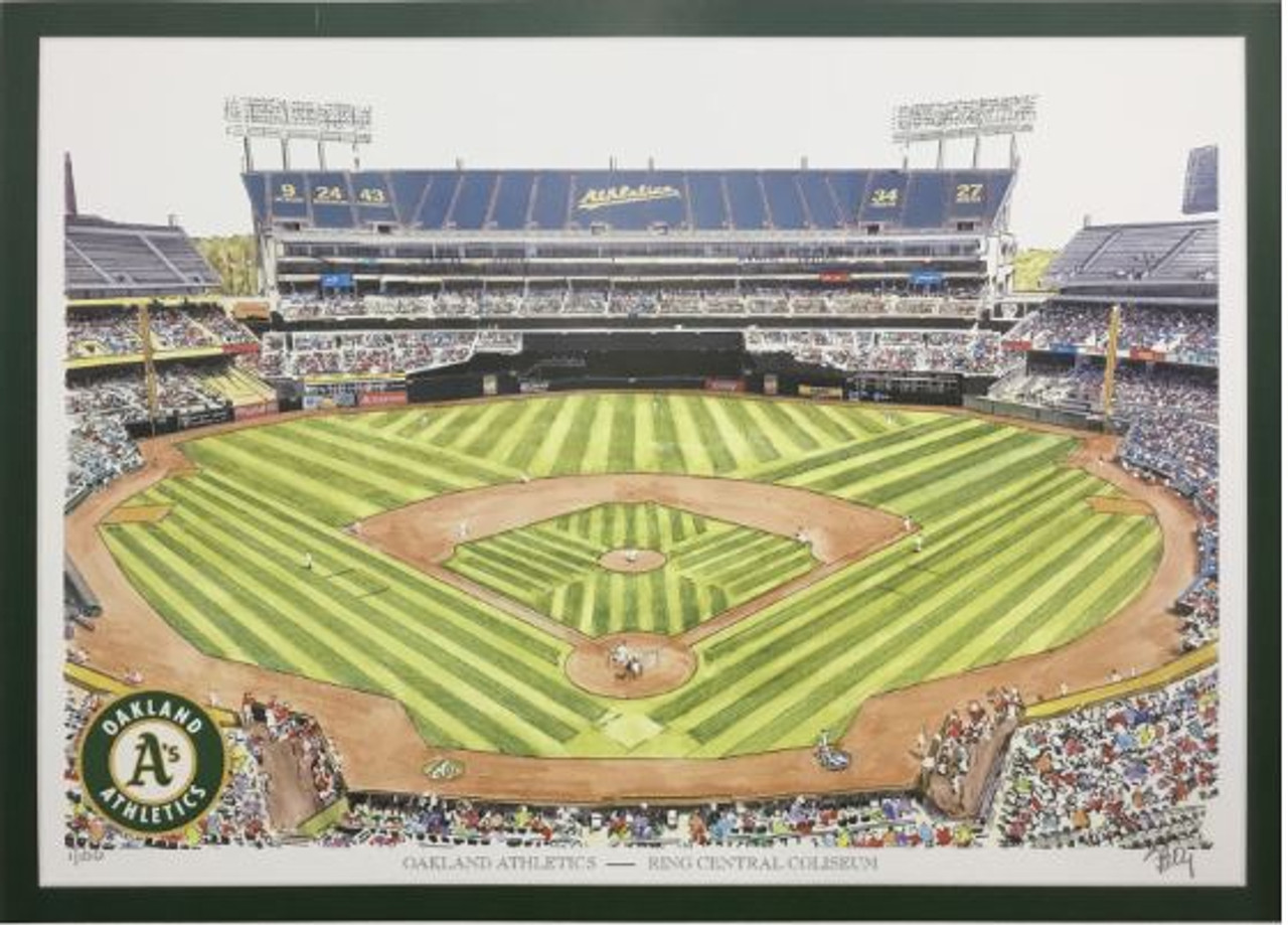 RingCentral Coliseum - Oakland Athletics Art Print