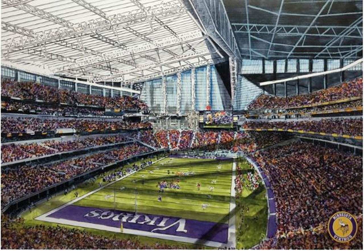 US Bank Stadium - Minnesota Vikings  Art Print