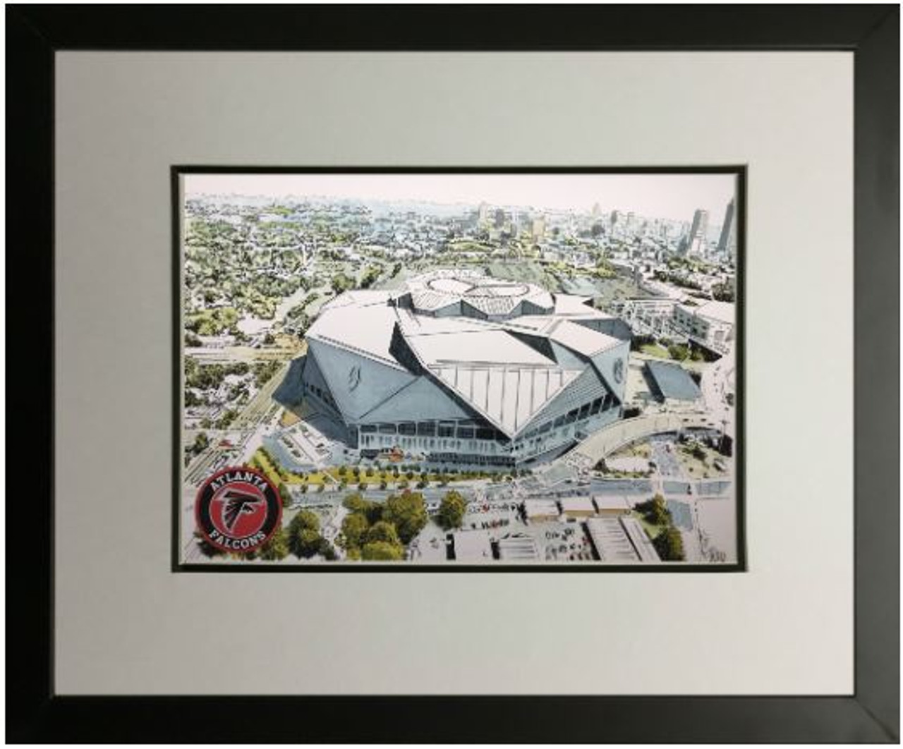 Mercedes-Benz Stadium Aerial - Atlanta Falcons  Art Print