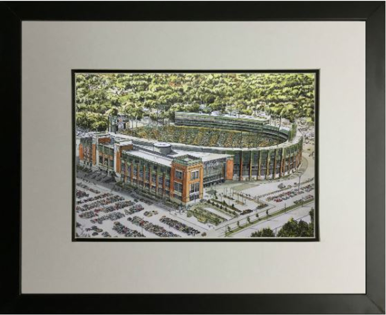 Lambeau Field Aerial - Green Bay Packers  Art Print