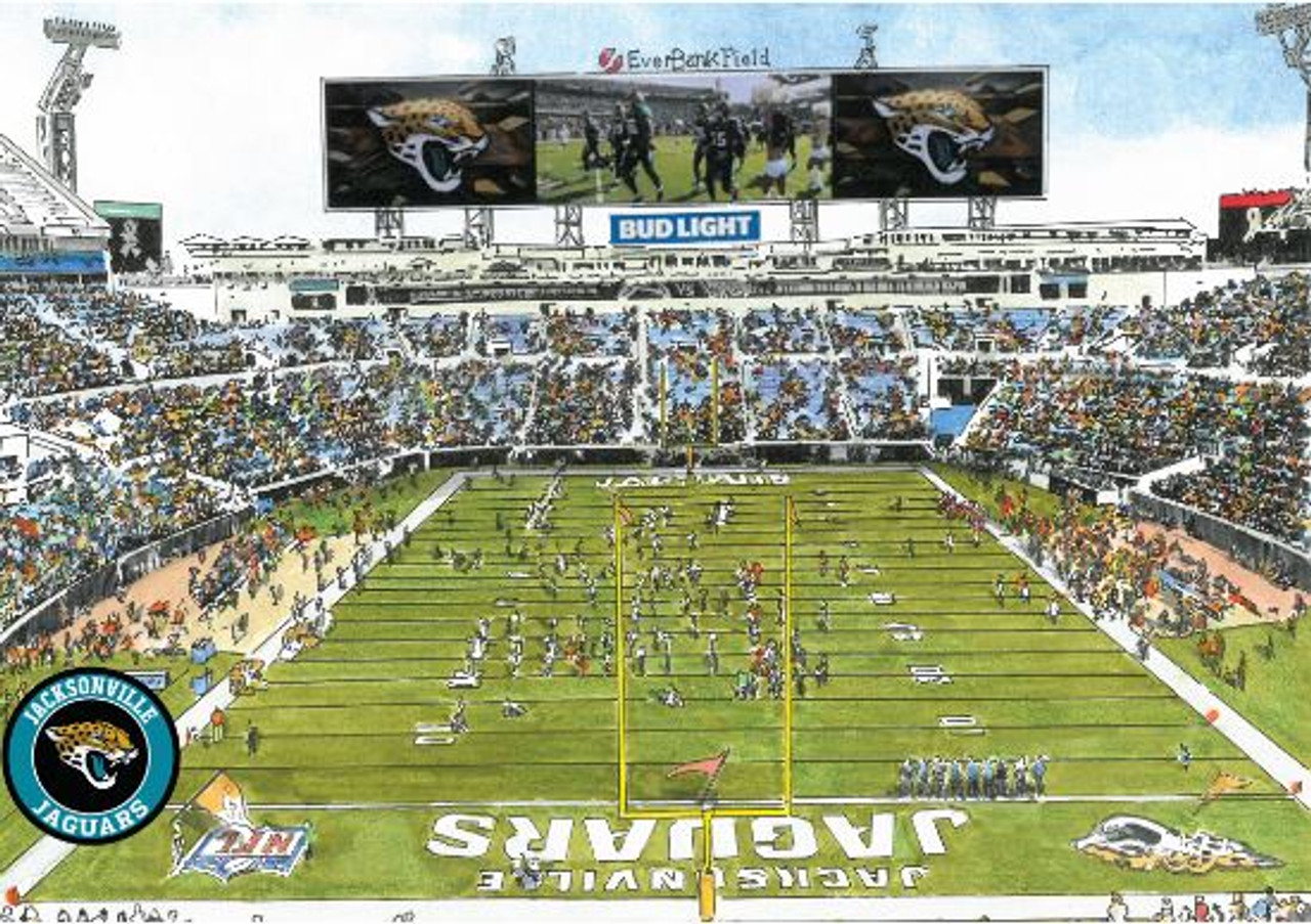 TIAA Bank Field - Jacksonville Jaguars  Art Print