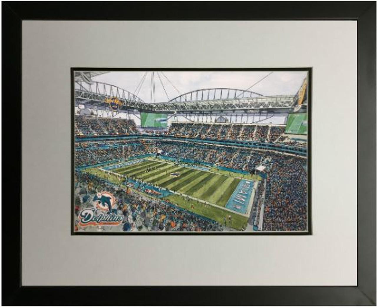 Hard Rock Stadium - Miami Dolphins Art Print