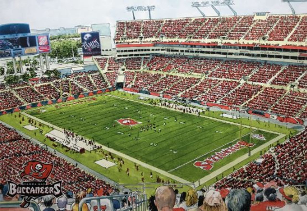 Raymond James Stadium - Tampa Bay Buccaneers Art Print