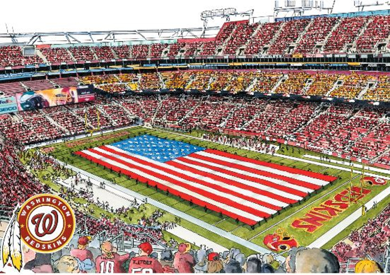 FedEx Field - Washington Redskins Art Print