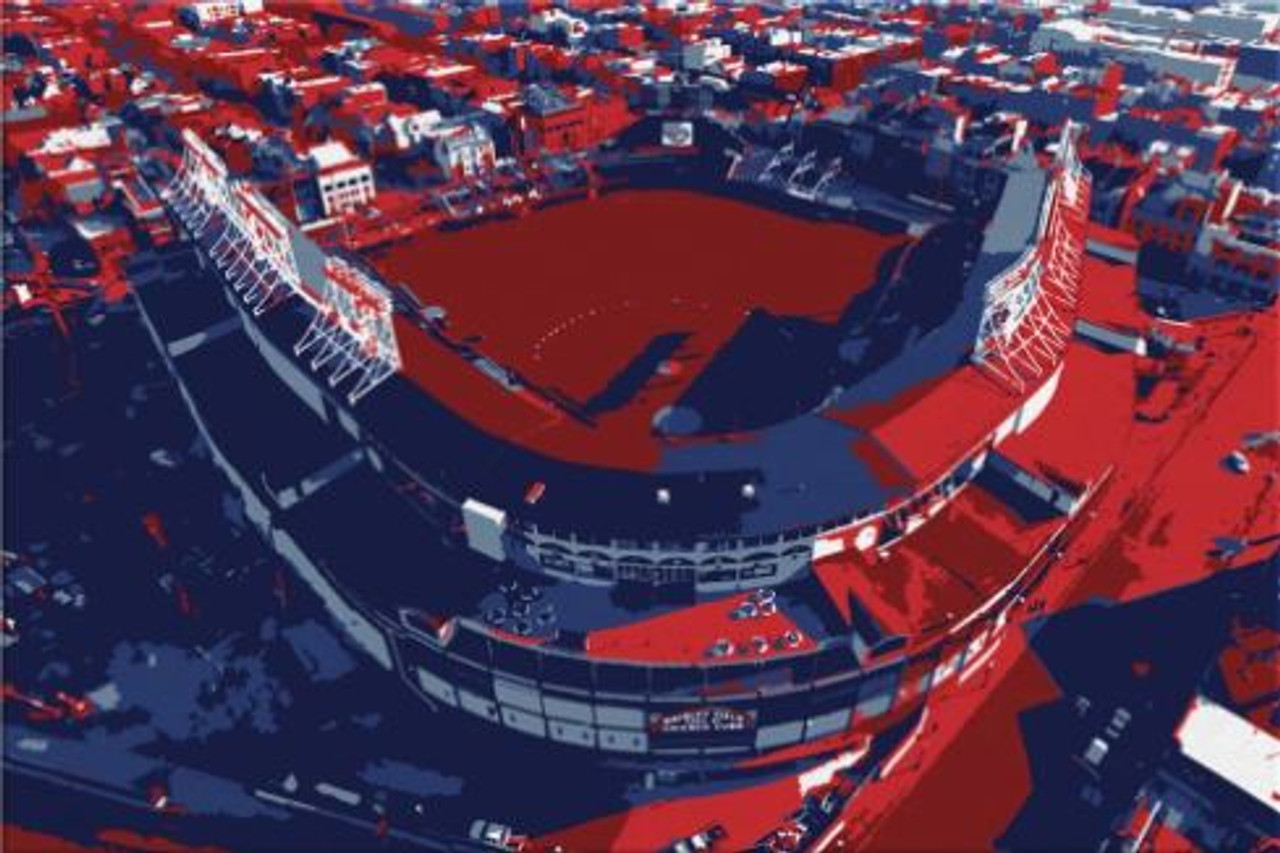 Wrigley Field - Chicago Cubs Aerial Canvas Print
