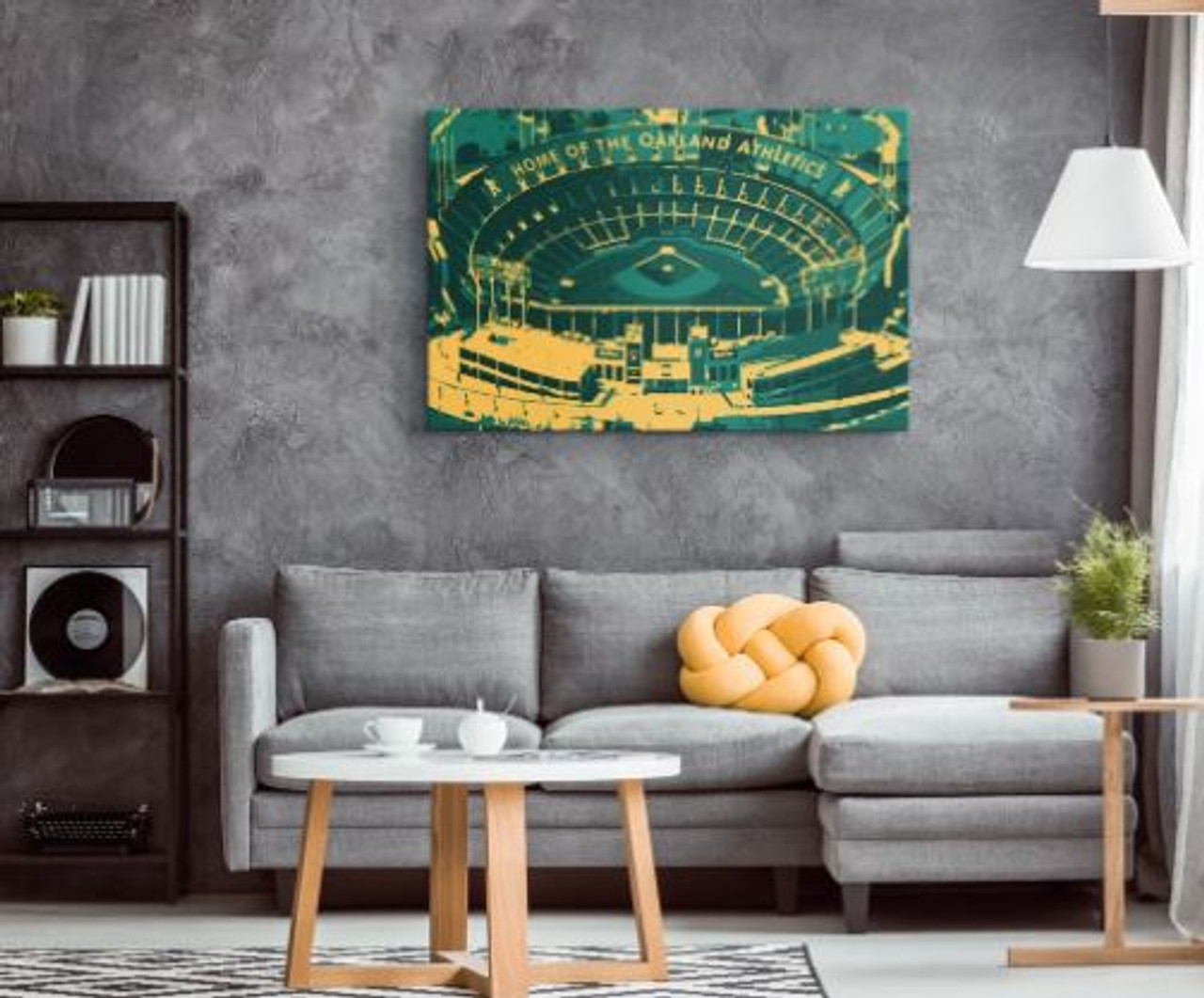 Oakland Coliseum - Oakland Athletics Aerial Canvas Print