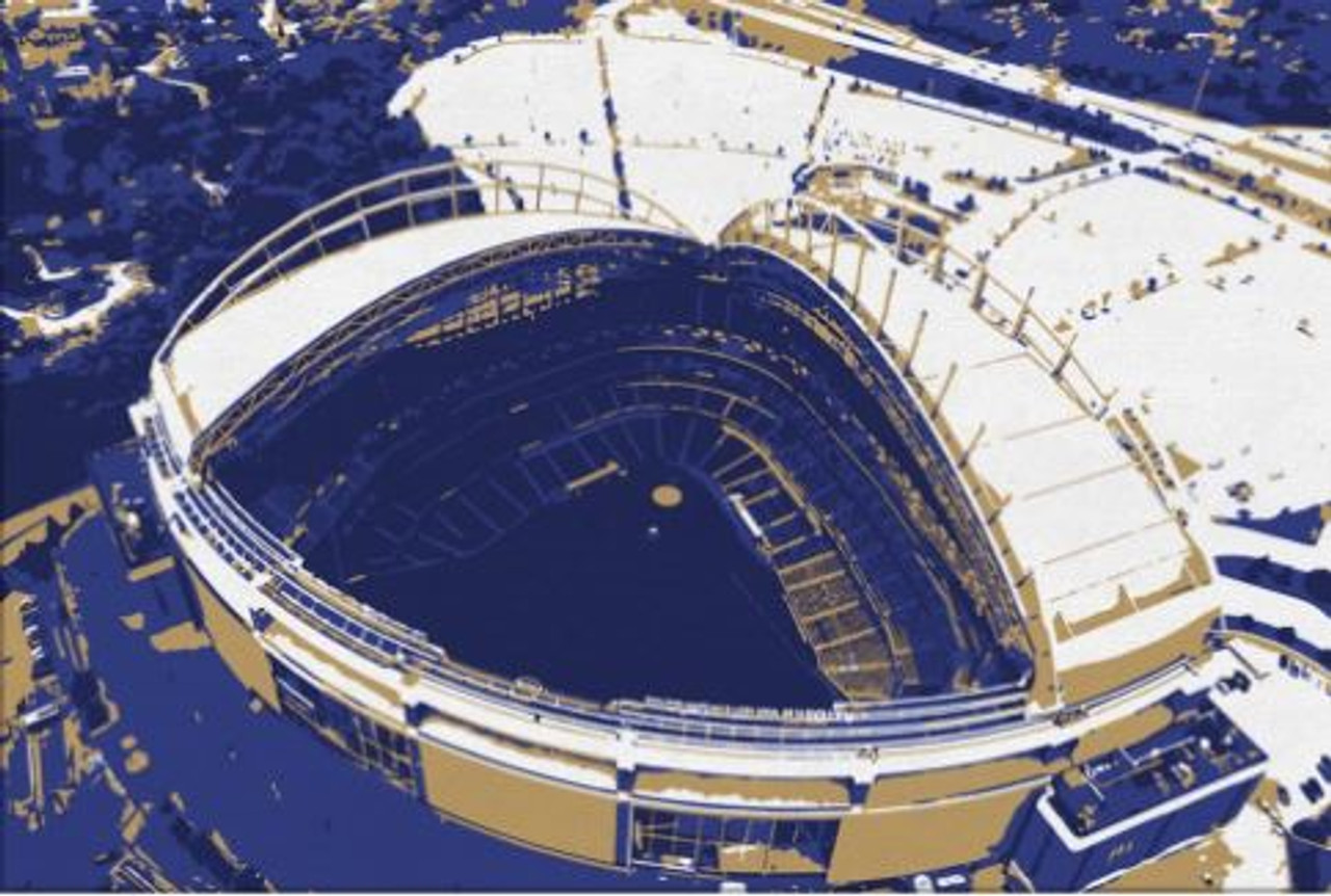Miller Park - Milwaukee Brewers Aerial Canvas Print