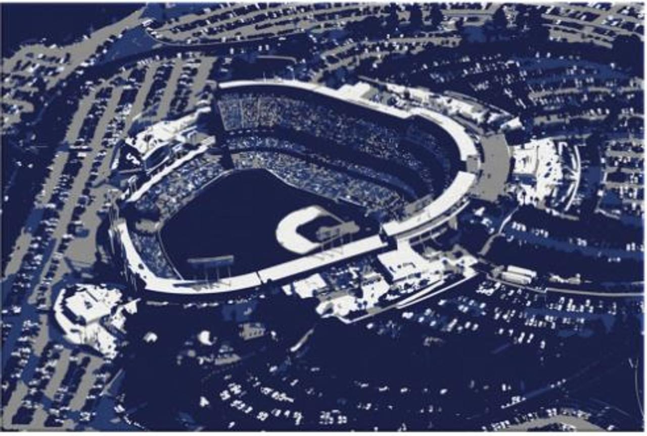 Dodger Stadium - Los Angeles Dodgers Aerial Canvas Print