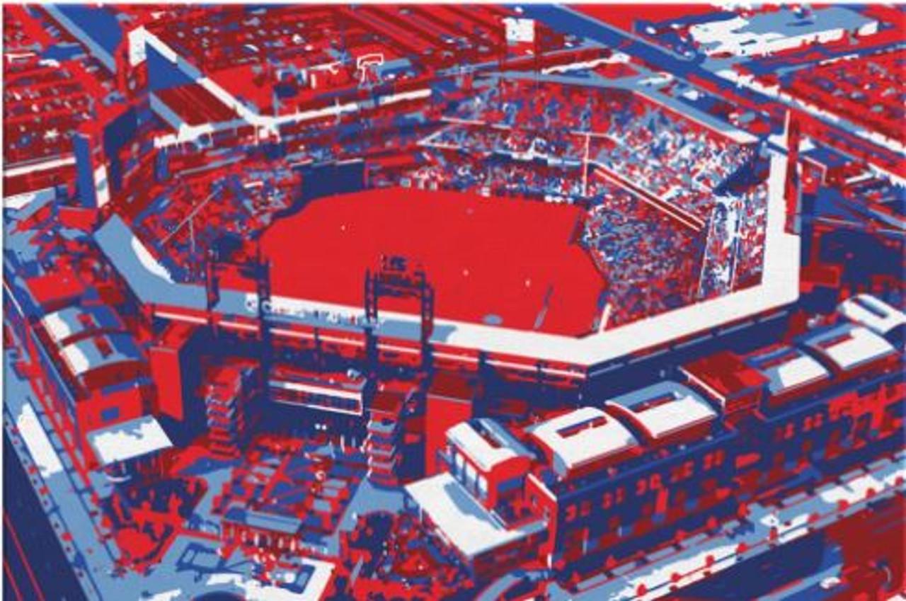 Citizens Bank Park - Philadelphia Phillies Aerial Canvas Print