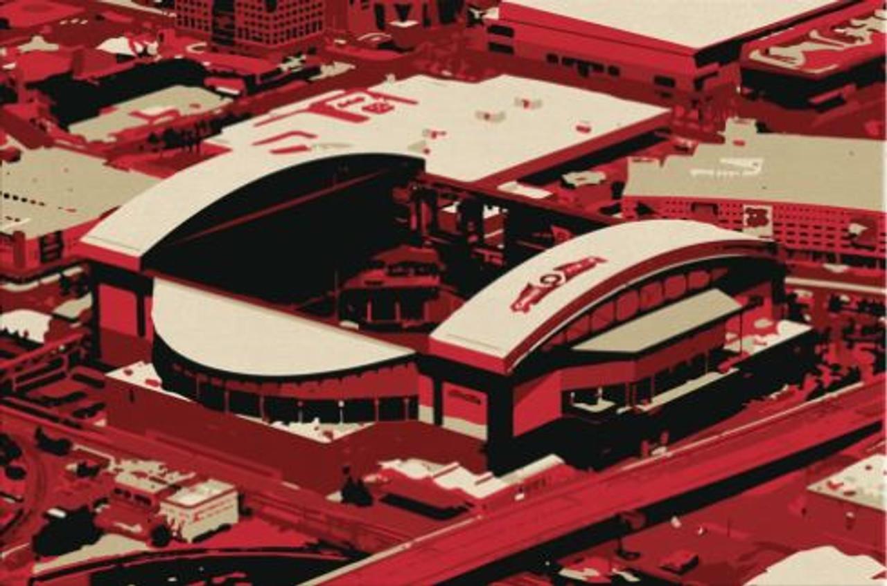 Chase Field - Arizona Diamondbacks Aerial Canvas Print