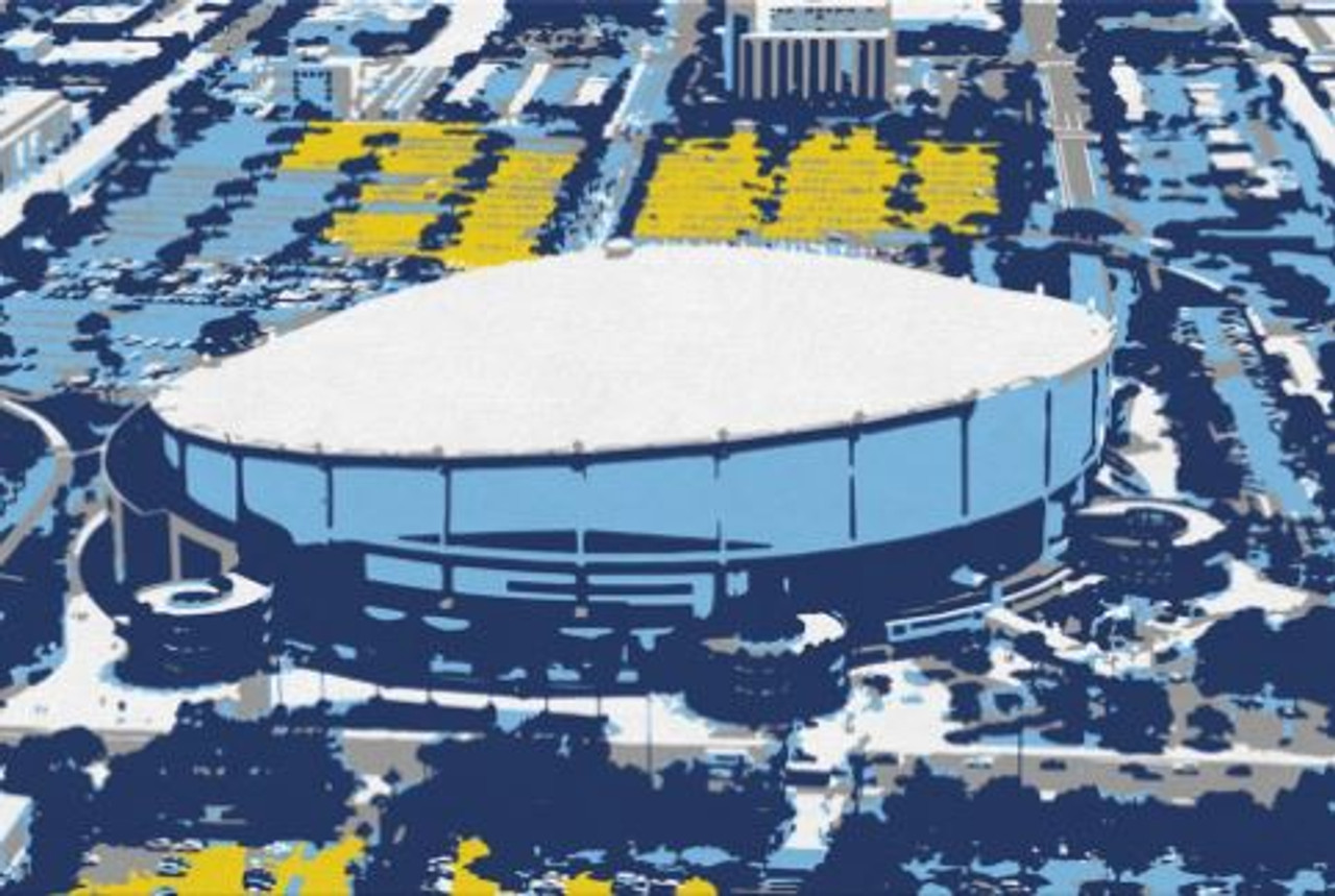 Tropicana Field - Tampa Bay Rays Aerial Canvas Print