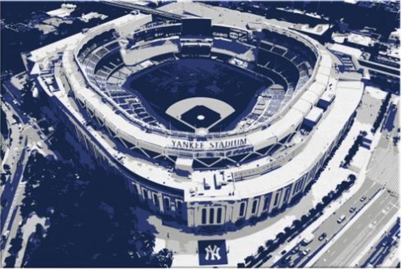 Yankee Stadium - New York Yankees Aerial Canvas Print