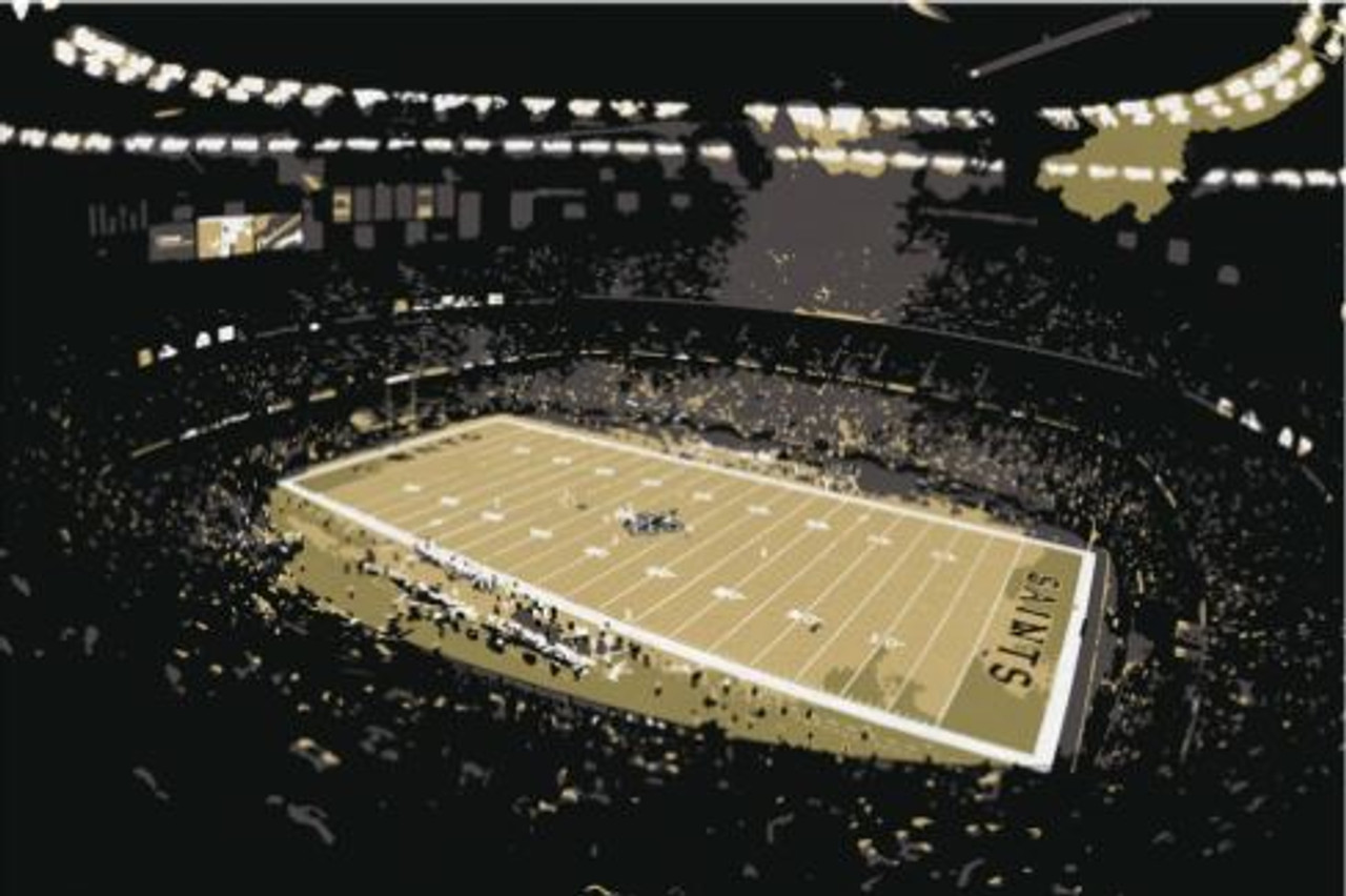 Superdome - New Orleans Saints Canvas Print