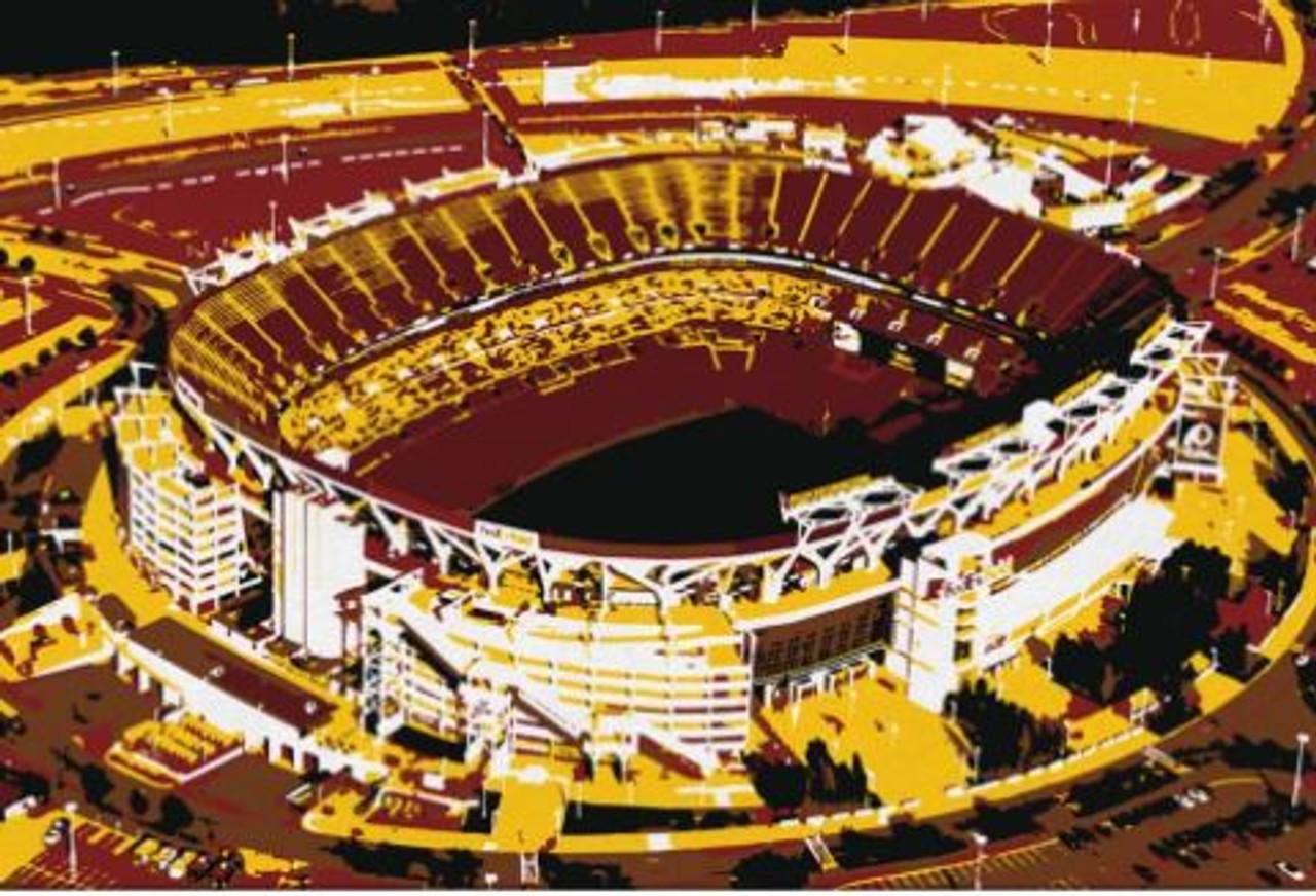FedEx Field - Washington Football Team Aerial Canvas Print