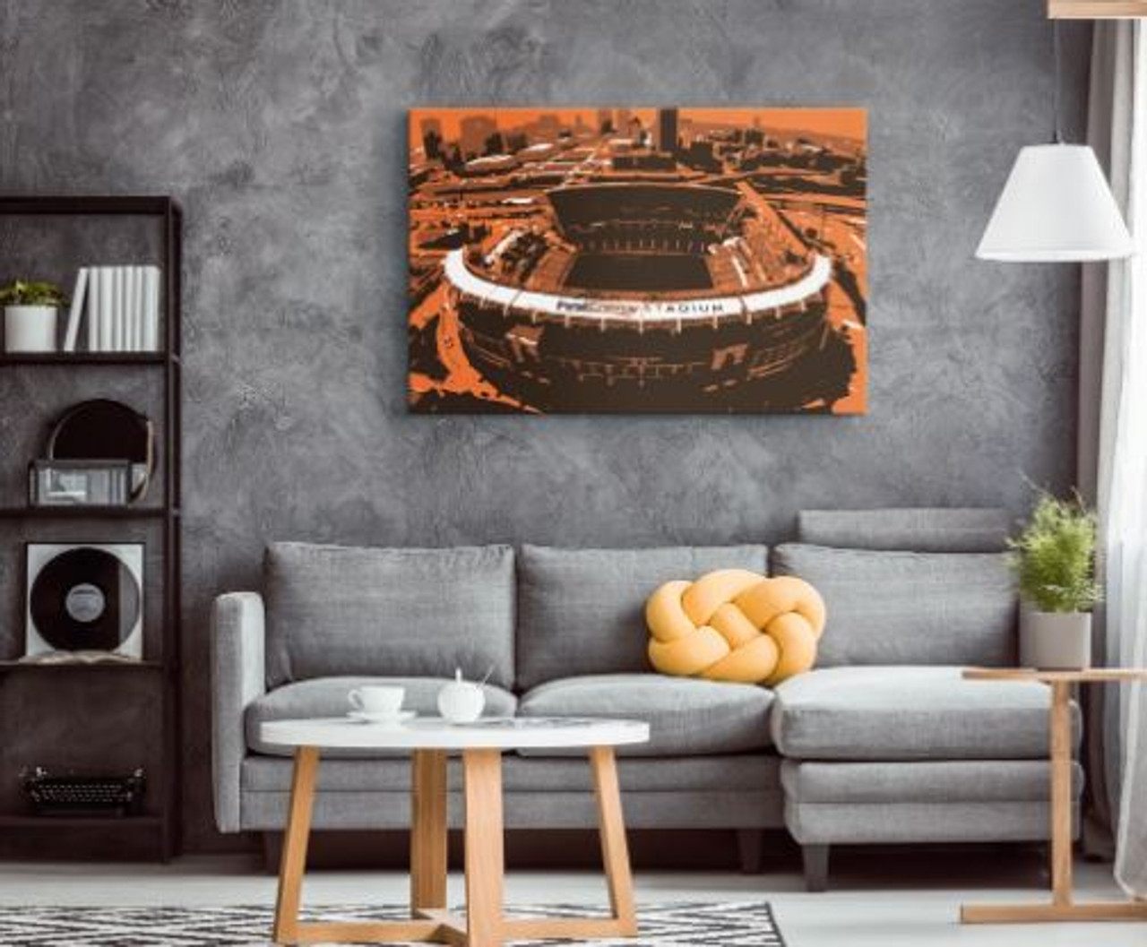 FirstEnergy Stadium - Cleveland Browns Aerial Canvas Print