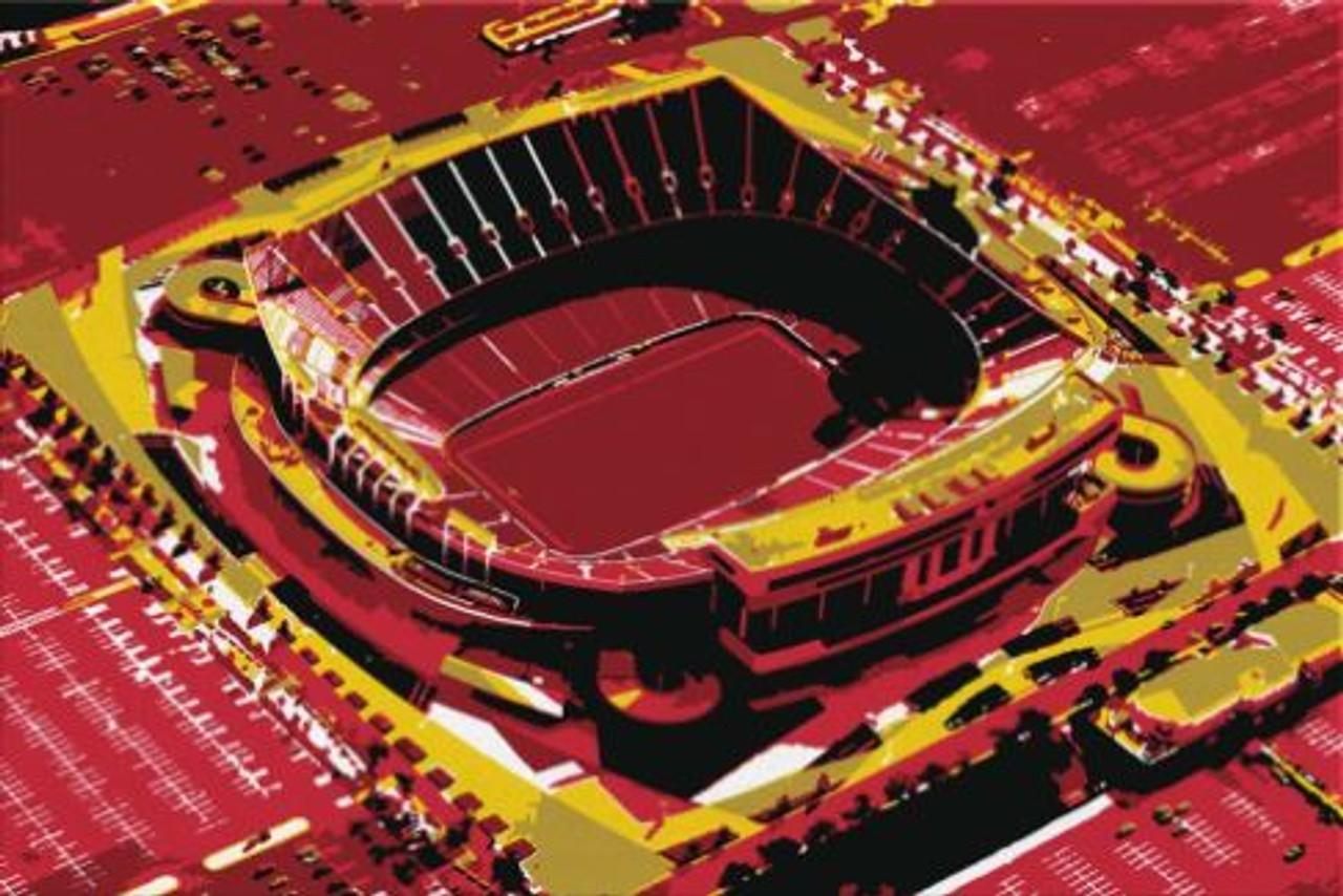 Arrowhead Stadium - Kansas Aerial Canvas Chiefs Aerial Canvas Print