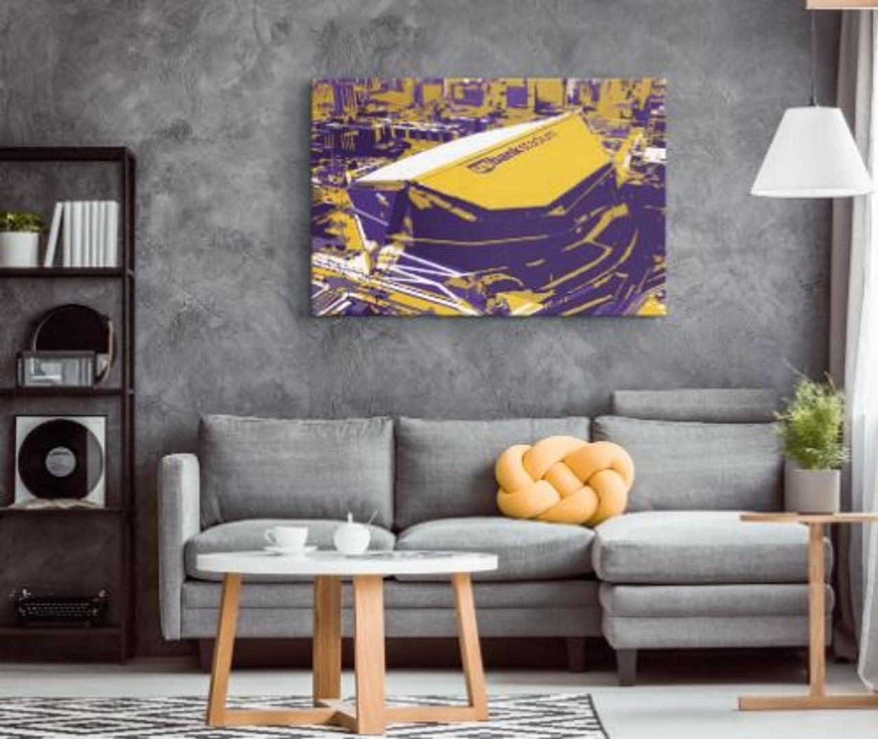 US Bank Stadium - Minnesota Vikings Aerial Canvas Print