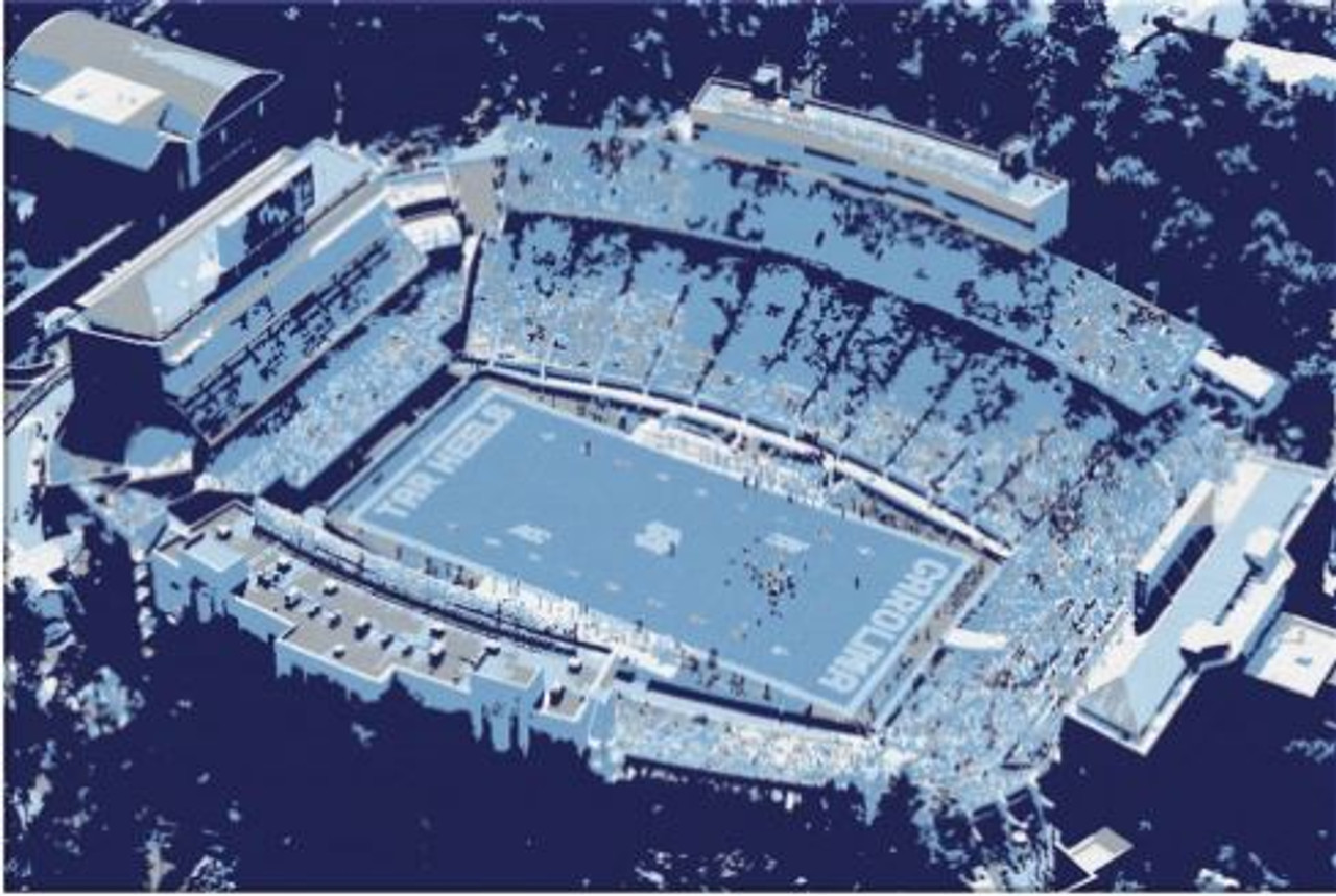 Kenan Stadium - North Carolina Tarheels Aerial Canvas Print