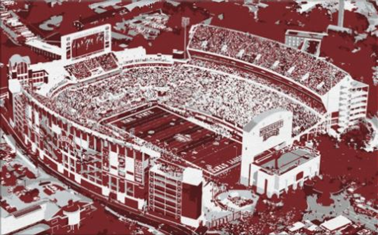 Davis Wade Stadium - Mississippi State Bulldogs Aerial Canvas Print