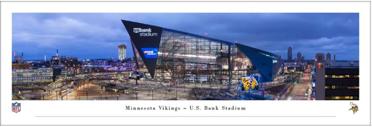 "Minnesota Vikings at US Bank Stadium ""Exterior"" Panoramic Poster"
