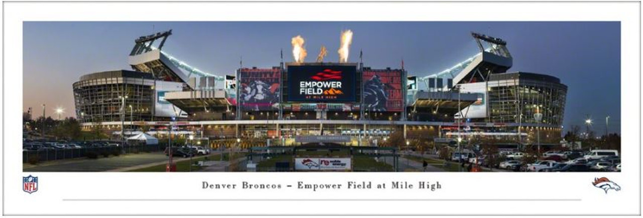 "Denver Broncos at Empower Field at Mile High Stadium ""Exterior"" Panoramic Poster"