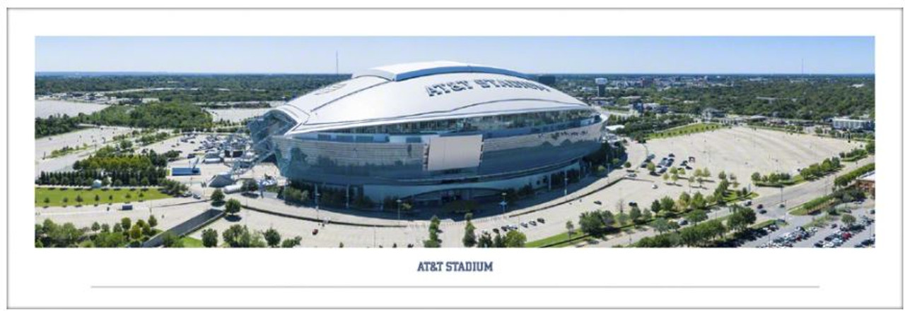 """Dallas Cowboys at AT&T Stadium """"Aerial"""" Panoramic Poster"""