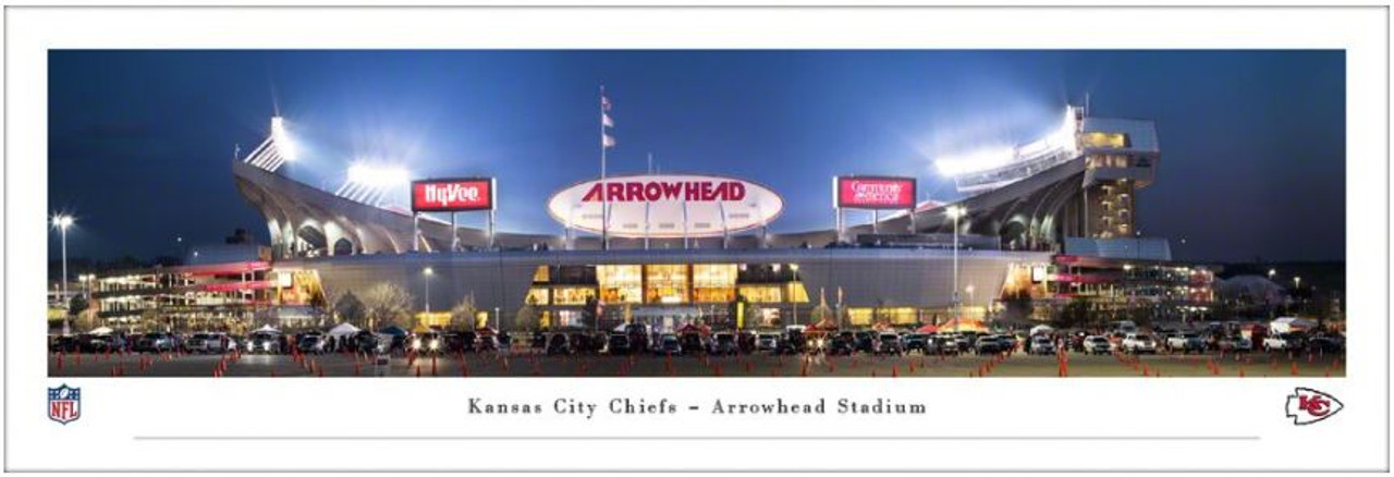 "Kansas City Chiefs at Arrowhead Stadium ""Exterior"" Panoramic Poster"