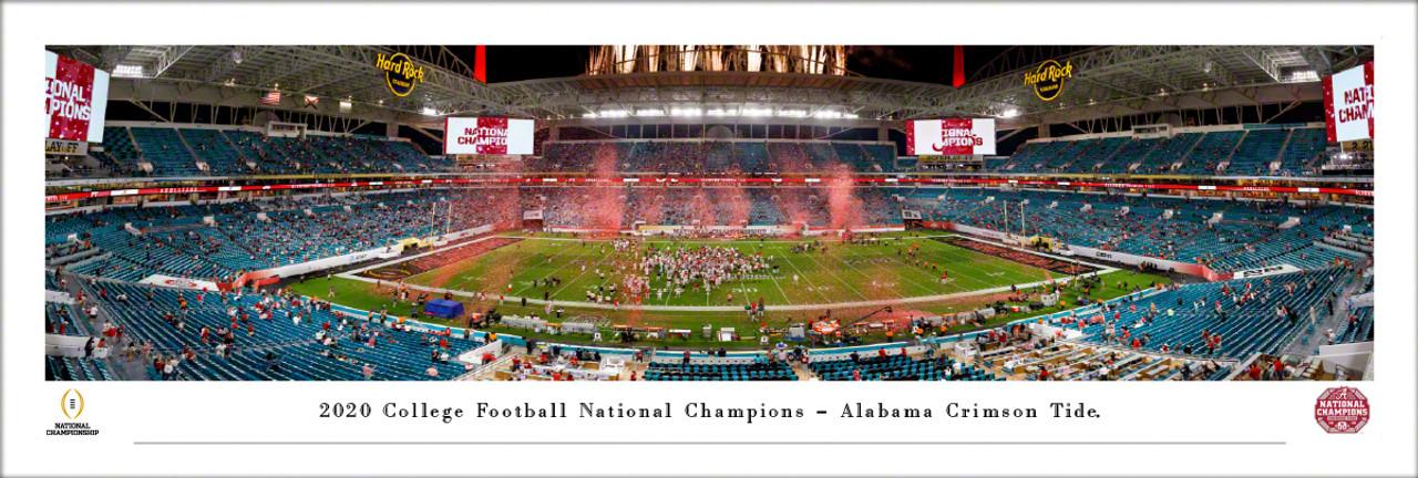 2020 College Football Playoff National Championship - Alabama Crimson Tide Champions Panoramic Poster