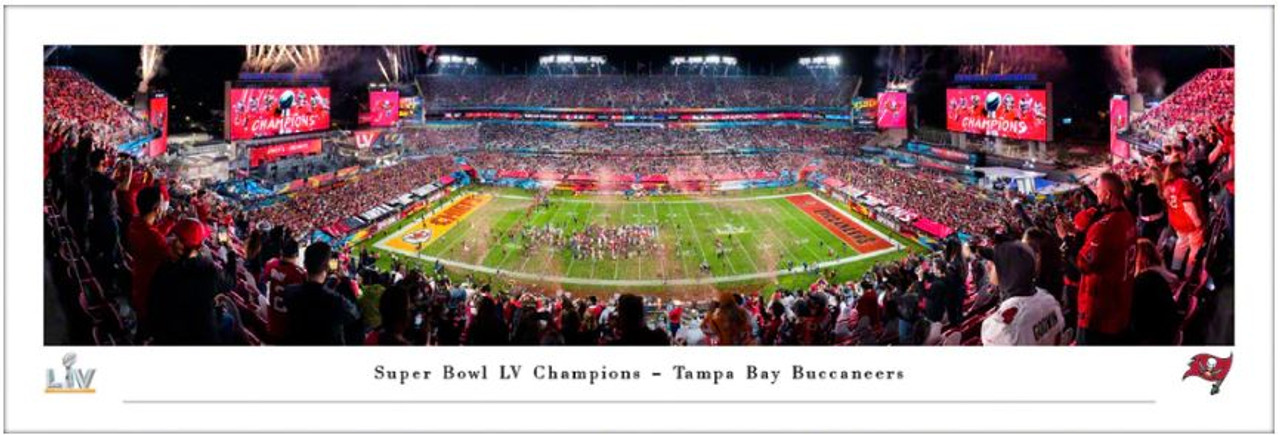 Super Bowl LV Champions - Tampa Bay Buccaneers Panoramic Poster