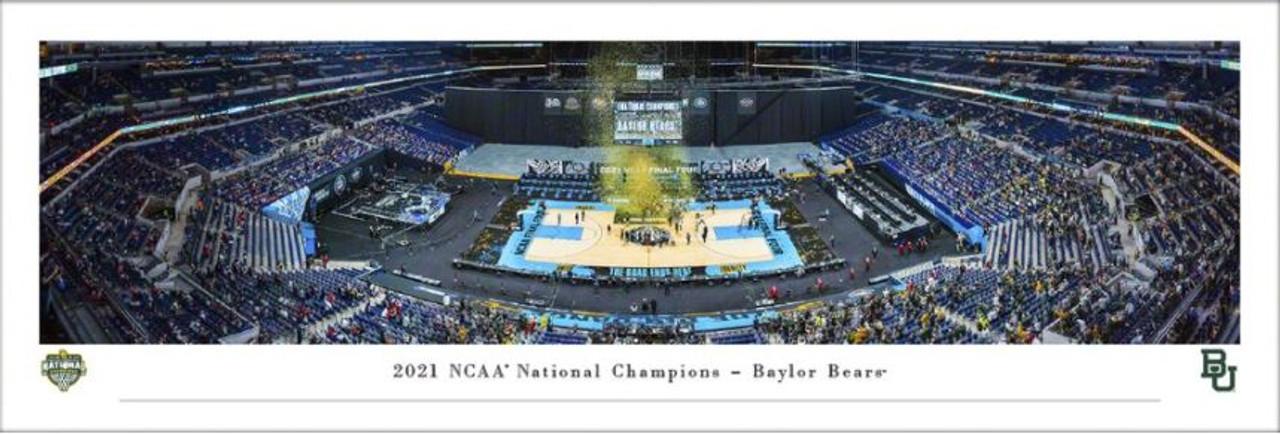 2021 NCAA Men's Basketball Baylor Bears National Champions Panoramic Poster