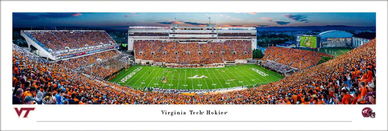 "Virginia Tech Hokies ""Orange Effect"" Lane Stadium Panoramic Poster"