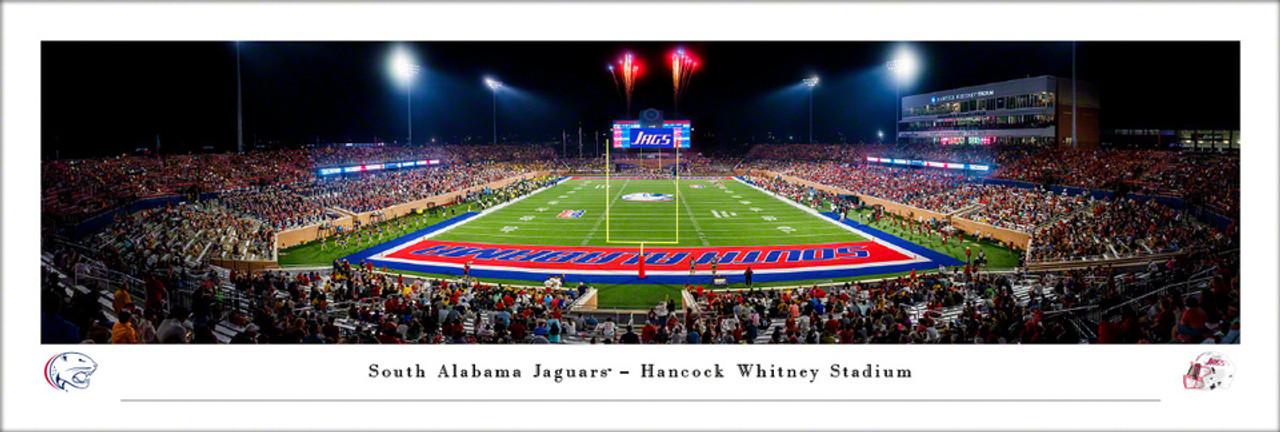 South Alabama Jaguars at Hancock Whitney Stadium Panoramic Poster