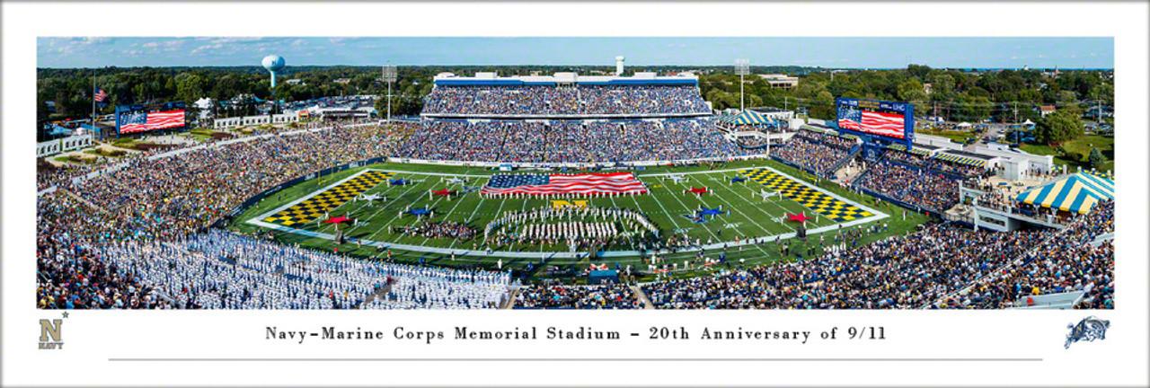 Navy Midshipmen at Navy-Marine Corps Memorial Stadium Panoramic Poster