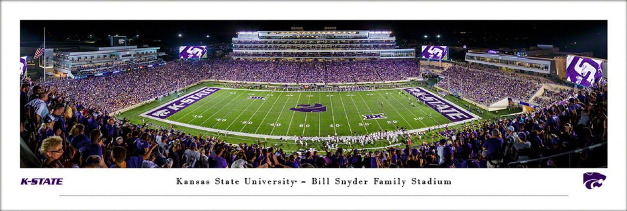Kansas State Wildcats at Bill Snyder Family Stadium Panoramic Poster