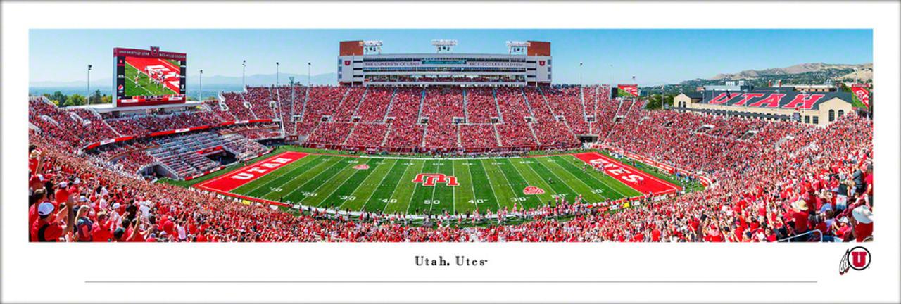 Utah Utes at Rice-Eccles Stadium Panoramic Poster