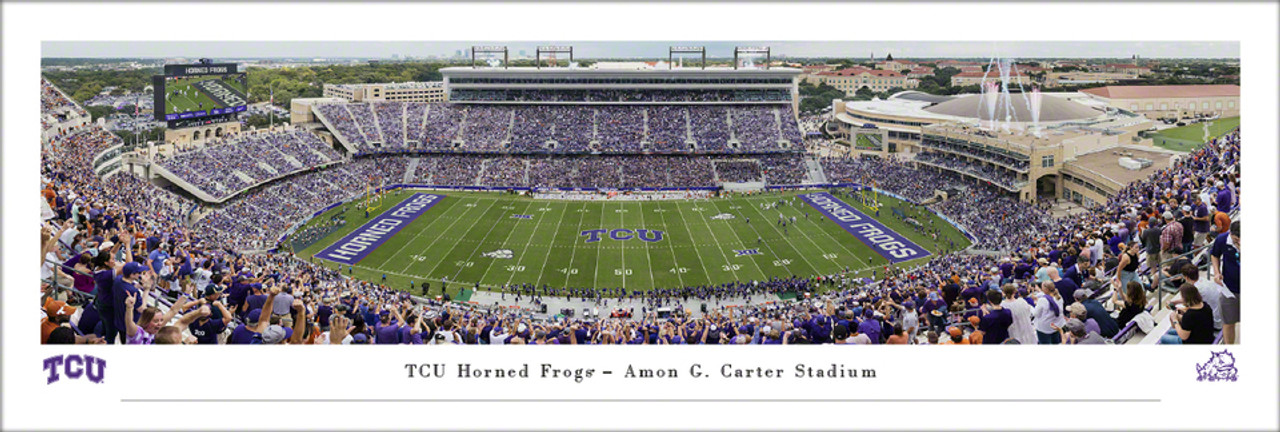 TCU Horned Frogs at Amon G Carter Stadium Panoramic Poster
