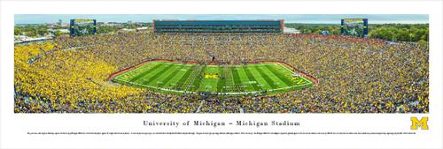 Michigan Wolverines at Michigan Stadium Panorama Poster