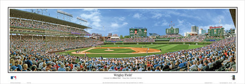 """Wrigley Field"" Chicago Cubs Panoramic Framed Poster"
