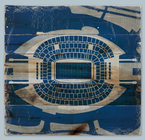 AT&T Stadium Print on Reclaimed Wood