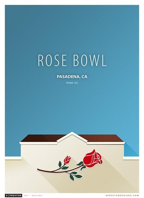 UCLA Bruins - Rose Bowl Simple Print