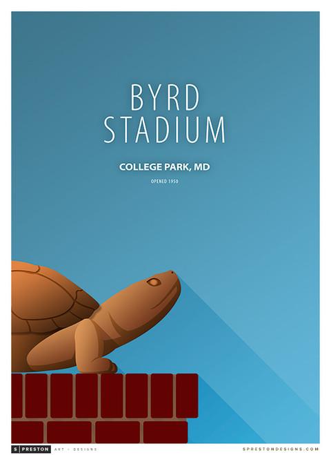 Maryland Terrapins - Byrd Stadium Simple Print