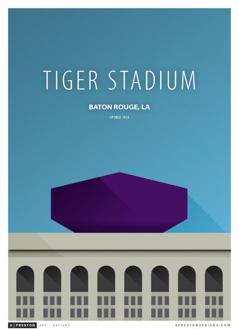LSU Tigers - Tiger Stadium Simple Print