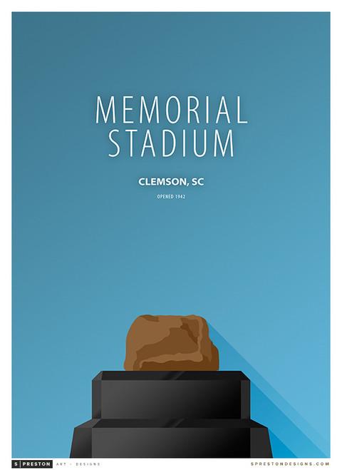 Clemson Tigers - Memorial Stadium Simple Print