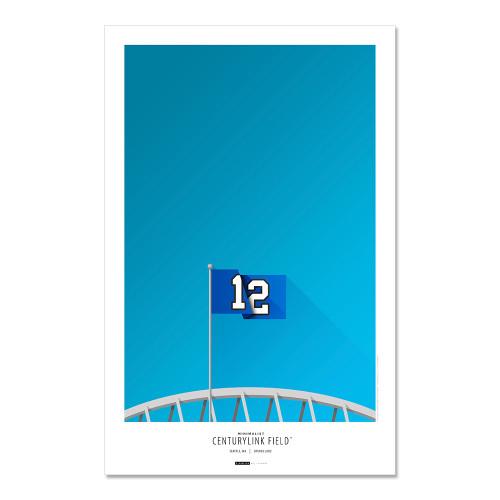 Seattle Seahawks - CenturyLink Field Art Poster