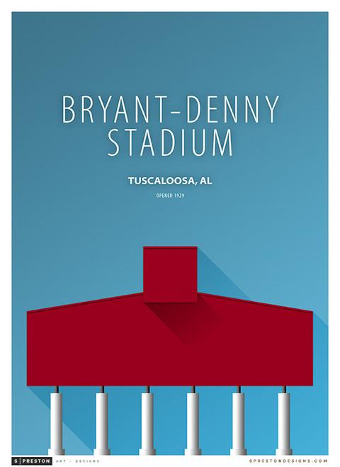 Alabama Crimson Tide - Bryant Denny Stadium Simple Print